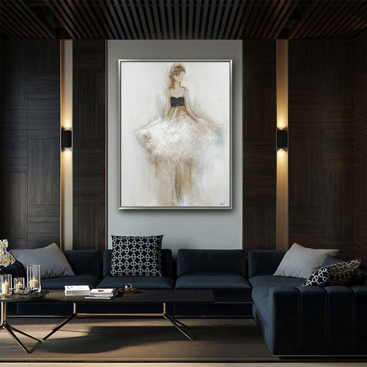 Elegant lady canvas art