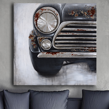 AUTOCAR I 3D CANVAS ART