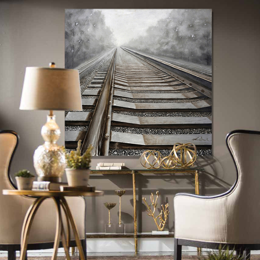3D railway canvas art