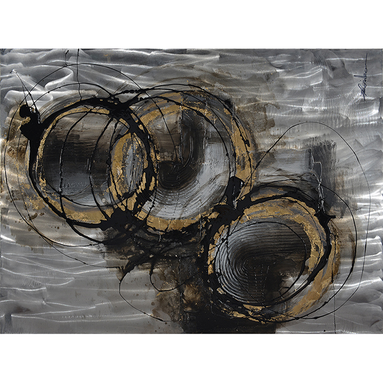 GOLD&BLACK ABSTRACT ALUMINIUM_ART