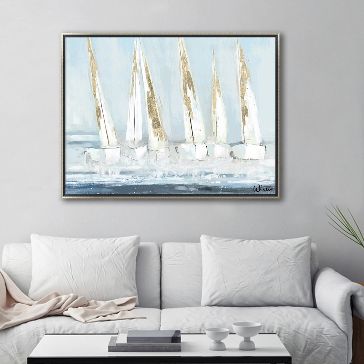 SAILING  BOAT CANVAS ART