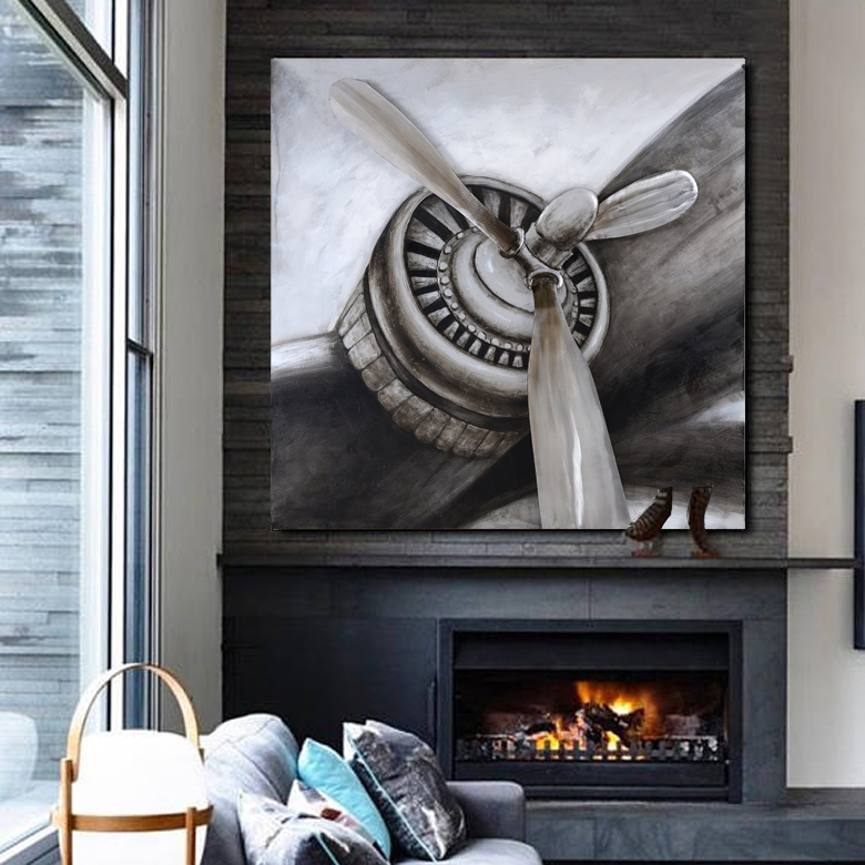 AIRCRAFT II 3D CANVAS ART