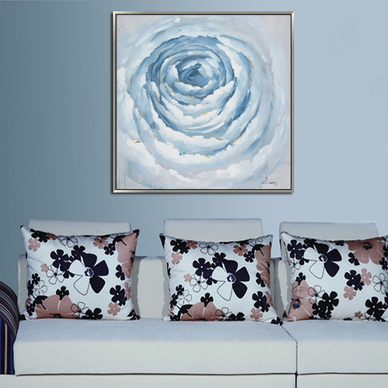 BRUSHED FLORAL CANVAS ART