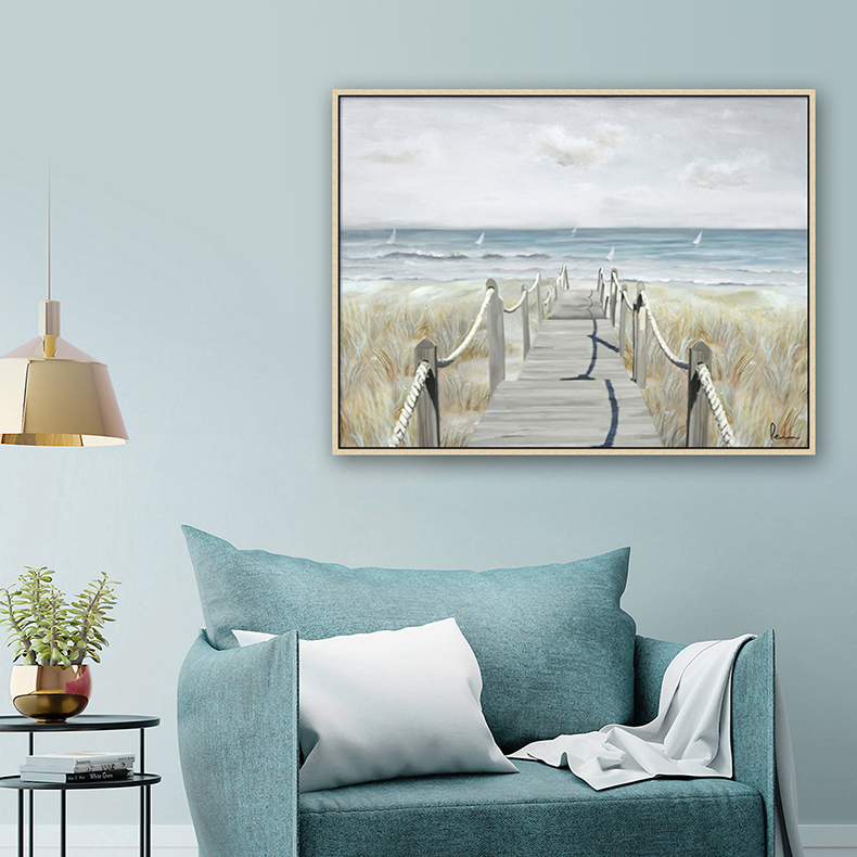 SEASIDE FENCE CANVAS ART