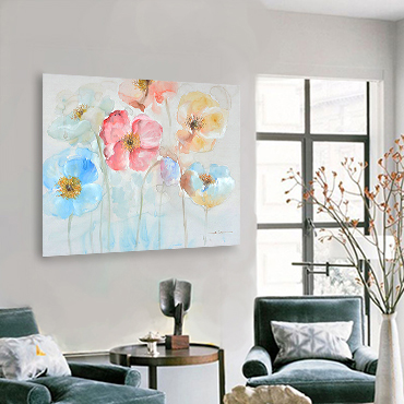 WILD FLOWERS CANVAS ART