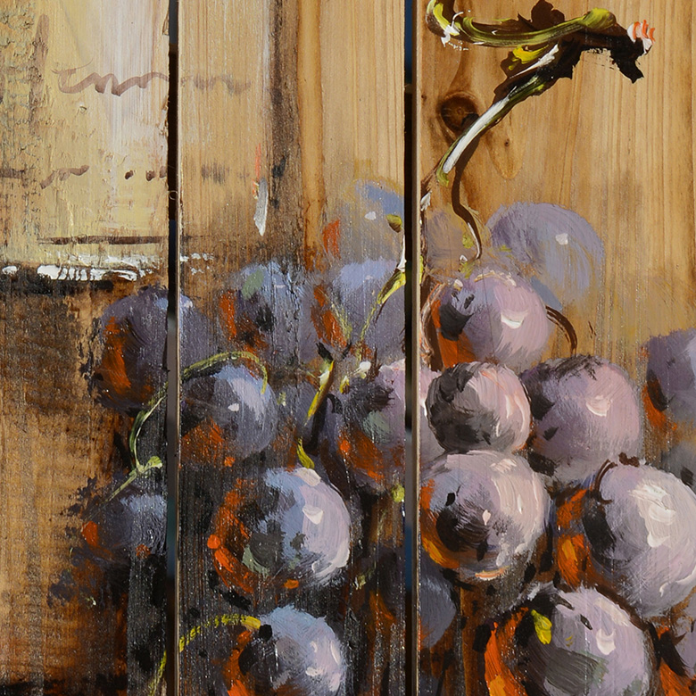 GRAPE&WINE WOOD ART